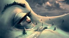 French artist Cyril Rolando creates surreal fantasy universes inspired by Hayao Miyazaki and Tim Burton Hayao Miyazaki, Tim Burton, Cyril Rolando, Surrealism Painting, Painting Art, Conceptual Painting, Pop Surrealism, Eye Art, Psychedelic Art