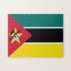 Mozambique Flag Jigsaw Puzzle │ Teach Your Kids Country Flags of the World in a Fun Way by Solving our Beautiful Puzzles │ Enjoy Our Collection of Country Flags Jigsaw Puzzles and Have Family Fun Time with your Kids in a Puzzle Solving Game Night which will help you relax your mind and overcome your daily stress. Mozambique Flag, World Puzzle, Flag Game, Flags Of The World, Fun Time, Game Night, Jigsaw Puzzles, Stress, Puzzles