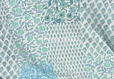 King Bedding in hand block print Kantha Quilt by Bhagyodayfashions
