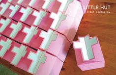 first comunion favor boxes by A Little Hut, via Flickr