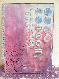 From Susi, aka froebelsternchen, in northern Austria. http://art-journal-journey.blogspot.co.at/