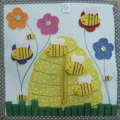 Quiet book bee hive page