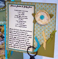 Recipe Card Scrapbooking