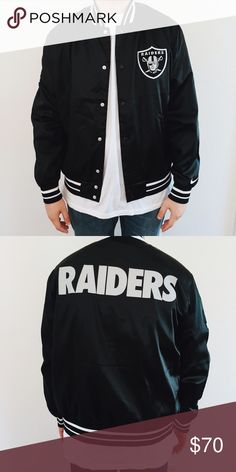 Oakland Raiders Varsity Jacket Perfect Condition. Never worn. Nike Jackets & Coats Bomber & Varsity
