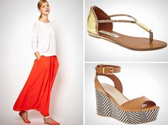 How to Pair Maxi Skirts and Shoes   Brit + Co.