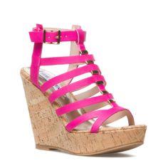 Hot Pink Sandal Wedges