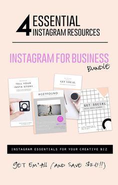 Instagram for Business Bundle : Get FOUR Instagram Resources together + save $20!!