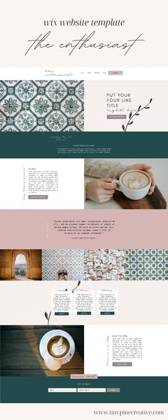 The ENTHUSIAST Wix Website Template is a feminine, natural layout design, with beautiful features to make it stand out. It's perfect for any service-based entrepreneur, freelancer or side-hustler. If you also sell products or courses, you can easily add e-commerce to your site. This template is entirely customizable! Just swap out colors, fonts, and add your logo! Brand Identity Design, Brand Design, Branding Process, Business Checks, Business Journal, Starting Your Own Business, Business Management, Personal Branding, Cool Artwork