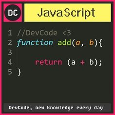 #DevCode Beauty is simple.   #javascript #programmer #DC