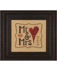 cross stitch - mr and mrs