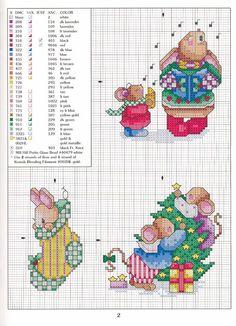 A través de Theresa Oberempt Cross-stitch Christmas Mice, part 2