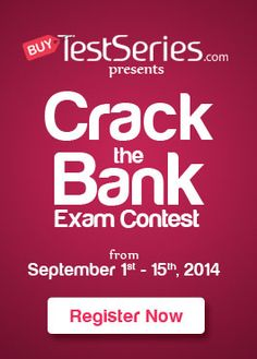 Buy Test Series Crack the Bank Contest