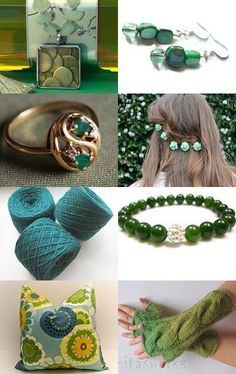 Gorgeous Greens of the HEP team by Anya on Etsy--Pinned with TreasuryPin.com
