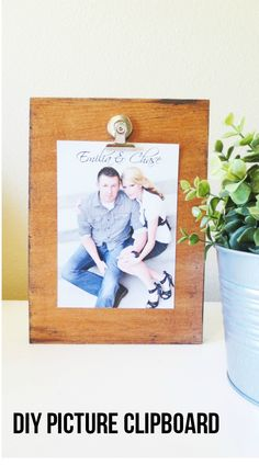 An easy DIY picture clipboard. So easy and requires only 4 things that you may already have on hand!