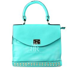 Kardashian Kollection Summer 2013 Stud Flap Tote Turquoise