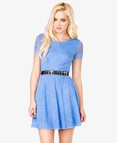 Floral Lace Skater Dress - love the color