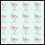 free ice cream backing paper pack blue