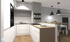 Wybrane wnętrza mieszkania w Warszawie - wersja klasyczna/ skandynawska - Kuchnia, styl skandynawski - zdjęcie od Medyńscy Projektowanie