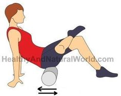 Simple Tricks to Fix your Sciatic and Back Pain Use a foam roller to help with sciatic pain.Use a foam roller to help with sciatic pain. Roller Stretches, Foam Roller Exercises, Sciatica Stretches, Sciatica Pain Relief, Sciatic Pain, Back Exercises, Sciatic Nerve, Flexibility Stretches, Sciatica Symptoms