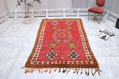 Authentic berber rug 4.8ft x 8.7ft Moroccan Soft Berber Rug Luxurious Rug Taznakht Teppich Rug Warm Moroccan Berber OLD Rug BENI OURAIN