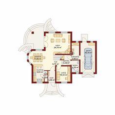 DOM.PL™ - Projekt domu DA Gracjan CE - DOM DS1-01 - gotowy koszt budowy Model House Plan, House Plans, Küchen Design, Modern House Design, Projects To Try, Floor Plans, How To Plan, House Styles, Holiday Decor