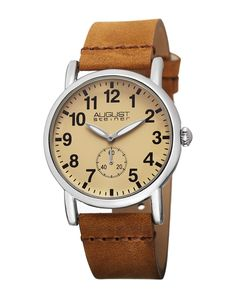 Spotted this August Steiner Women's Leather Watch on Rue La La. Shop (quickly!).