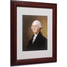 Trademark Fine Art George Washington 1821 inch Canvas Art by Gilbert Stuart, Wood Frame, Size: 16 x 20, Multicolor