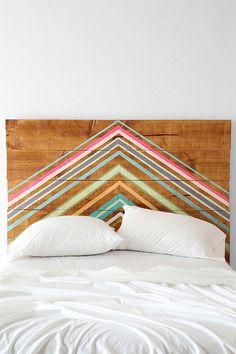 painted bed headboard