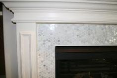 white fireplace tile surround - Google Search