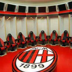 AC Milan changing room