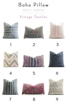 Boho Pillow - Vintage Textiles - Home Decor Max Pillow Inspiration, Room Inspiration, Pillow Ideas, Vintage Pillows, Vintage Textiles, Boho Throw Pillows, Accent Pillows, Bedroom Colors, Decorative Pillows