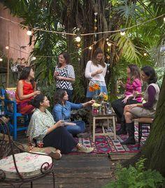 Meninas no jardim (Foto: Cacá Bratke/Editora Globo)