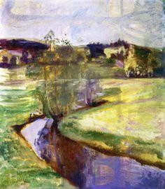 ALONGTIMEALONE: Norwegian Spring Landscape Edvard Munch, 1890