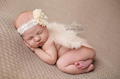 Blush Pink Feather Angel Wings Newborn Baby Photo Prop