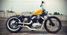 Tho& this Yamaha Virago 535 is not my style, but It& definitely a nice custom. Built by Hungry Ghost Custom Inc , Malaysia. Virago Bobber, Virago 535, Honda Bobber, Bobber Bikes, Bobber Chopper, Vintage Motorcycles, Custom Motorcycles, Custom Bikes, Bone Shaker