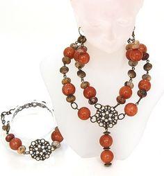 Christmas Jewelry Quartzite,CrazyLace Agate Necklace,Bracelet,Earrings | BeautyandtheGems - Jewelry on ArtFire