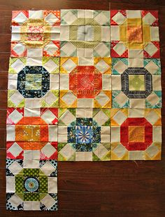 Radiant Ring quilt in progress by Don't Call Me Betsy, via Flickr