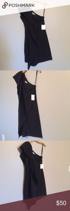 Selling this Calvin Klein 1 Shoulder Black Dress on Poshmark! My username is: mcdonss. #shopmycloset #poshmark #fashion #shopping #style #forsale #Calvin Klein #Dresses & Skirts