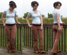 Maternity pants tutorial.