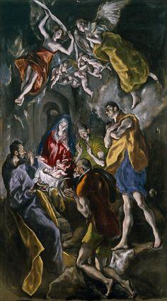 La adoracion de los pastores: óleo sobre tela de 3,2 m de alto y 1,8 m de ancho, realizado entre 1612 y 1614. Fue pintado para la cripta de la iglesia de Santo Domingo el Antiguo de Toledo y actualmente se conserva en el Museo del Prado de Madrid.