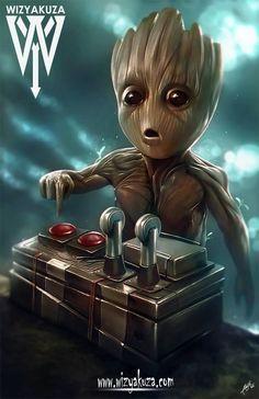 Little Groot by Wizyakuza