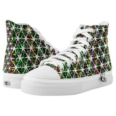 Star Pattern With Paint Splatter High-Top Sneakers
