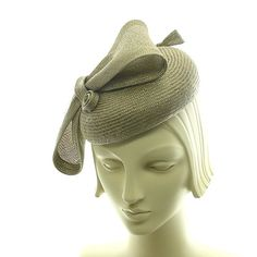 Taupe Cocktail Hat for Women   Pillbox Hat  by TheMillineryShop, $210.00