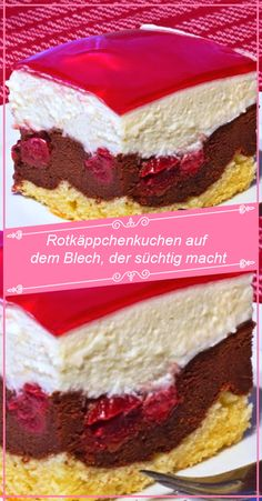 Kuchen und torten rezepte Preheat the oven to 180 degrees, drain 1 glass of sour cherries, collectin Easy Cheesecake Recipes, Easy Cookie Recipes, Dessert Recipes, Classic Cheesecake, Sour Cherry, Food Cakes, Cake Cookies, Chocolate Recipes, Vanilla Cake