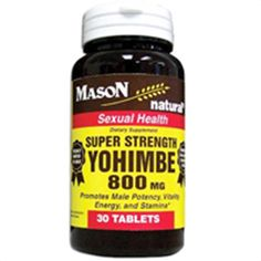 Buy Mason natural super strength yohimbe 800 mg for sexual health tablets - 30 ea | Promotes sexual health with male potency, vitality, energy and stamina. myotcstore.com - Ezy Shopping, Low Prices & Fast Shipping.