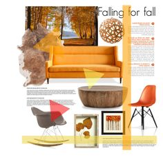 """Falling for fall"" by rheeee ❤ liked on Polyvore featuring interior, interiors, interior design, home, home decor, interior decorating, Gus* Modern, Arteriors, David Trubridge and Vitra"