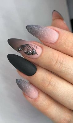 Best and most playful glitter nails design ideas in this .- Beste und verspielte Glitzernägel-Design-Ideen in dieser Woche – Seite 17 von 35 – D Best and Playful Glitter Nail Design Ideas This Week – Page 17 of 35 – D … – # Glitter nails design ideas - Shiny Nails, Bright Nails, Matte Nails, Hair And Nails, My Nails, Best Acrylic Nails, Glitter Nail Art, Black Glitter Nails, Acrylic Nail Designs For Summer
