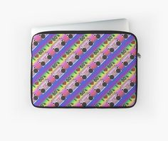 'Colorful Boombox Retro Pattern Laptop Sleeve by HavenDesign Retro Pattern, Boombox, Laptop Sleeves, Colorful Backgrounds, I Shop, Corner, Design
