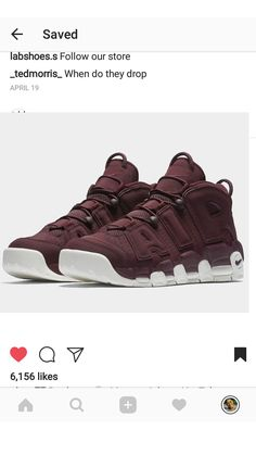 best loved 29702 d7960 The Nike Air More Uptempo Bordeaux is set to release this Spring 2017  season featuring a Maroon wine-inspired upper and off-white accents.  dynasty · shoes