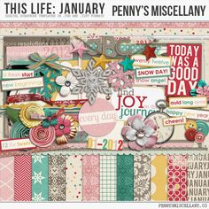 Wednesday's Guest Freebies ~ penny's Miscellany  ✿ Follow the Free Digital Scrapbook board for daily freebies: https://www.pinterest.com/sherylcsjohnson/free-digital-scrapbook/ ✿ Visit GrannyEnchanted.Com for thousands of digital scrapbook freebies. ✿ pm-thislife-january